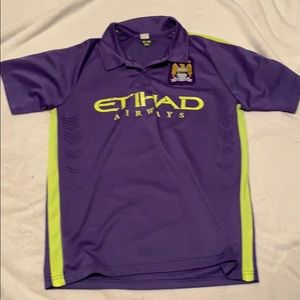 Authentic man city jersey purple